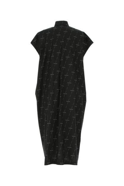 Printed poplin shirt dress
