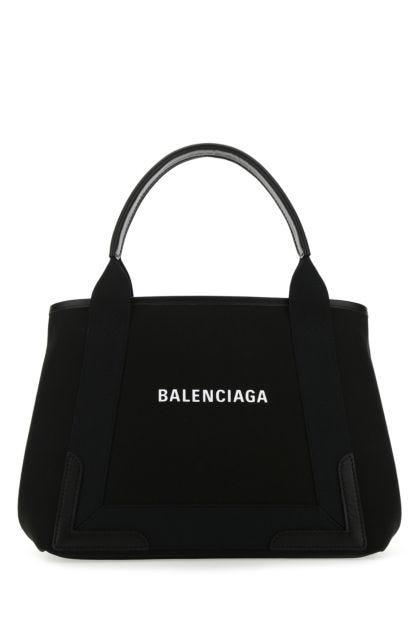Black canvas small Cabas Navy handbag