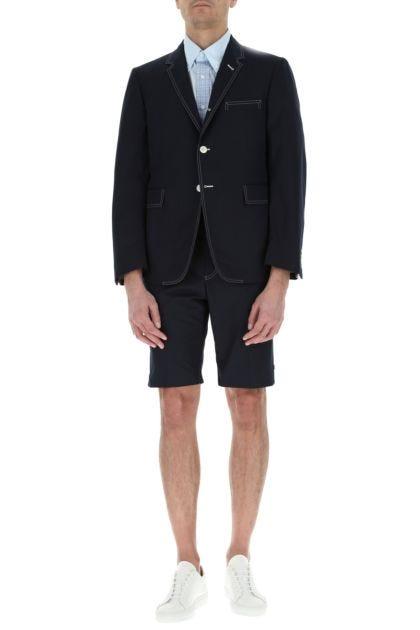 Blue polyester blend blazer