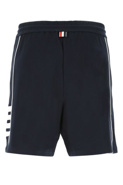 Midnight blue cotton bermuda shorts