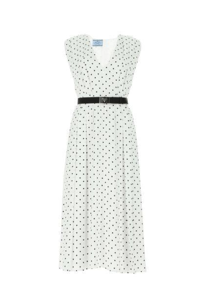 Printed polyester dress