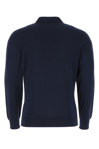 Dark blue wool Lasca polo shirt