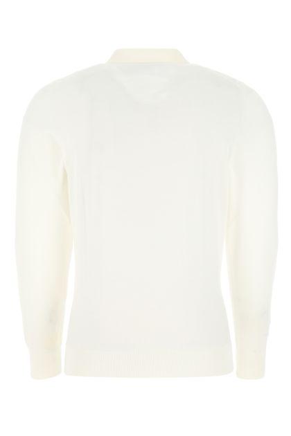White wool Lasca polo shirt