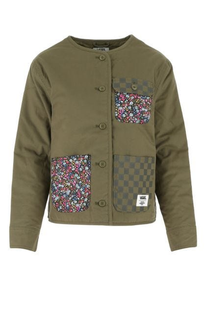 Military green cotton padded jacket