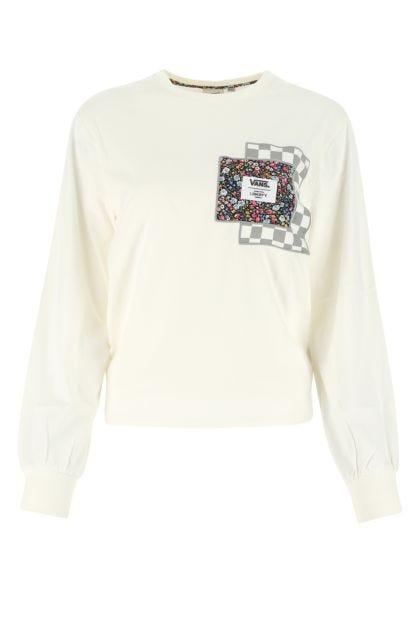 Ivory cotton t-shirt