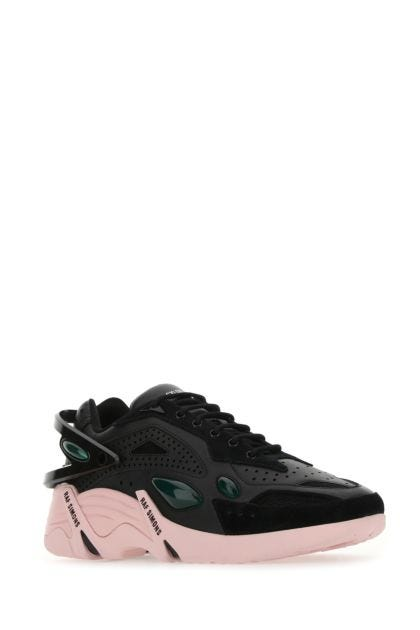 Black leather Cylon-21 sneakers