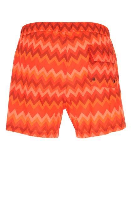 Printed polyester swimming shorts