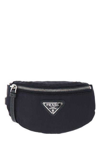 Midnight blue nylon pouch