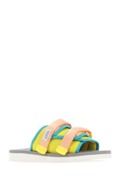Multicolor nylon Moto-Cab slippers