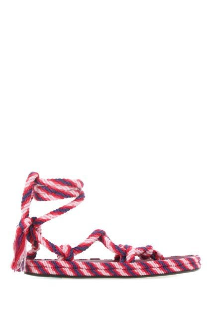 Multicolor cotton Erol thong sandals