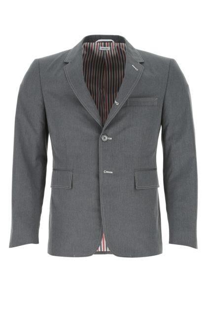 Dark grey polyester blend blazer
