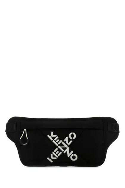 Black fabric belt bag