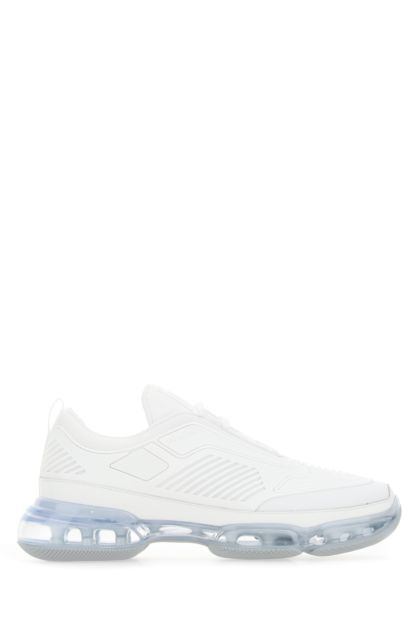 White mesh and leather Collision 19 LR sneakers