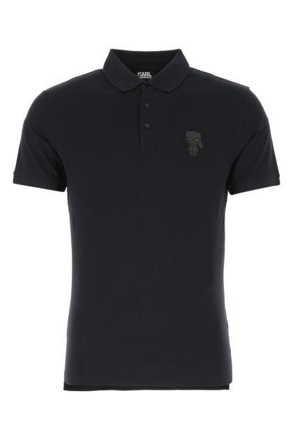 Midnight blue stretch piquet polo shirt