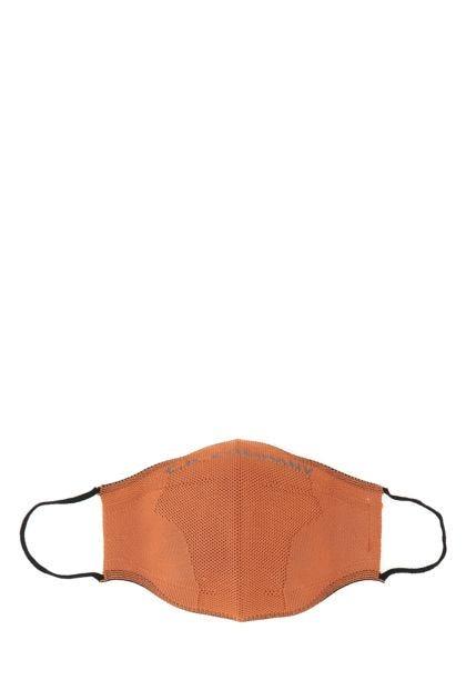 Orange stretch fabric face mask