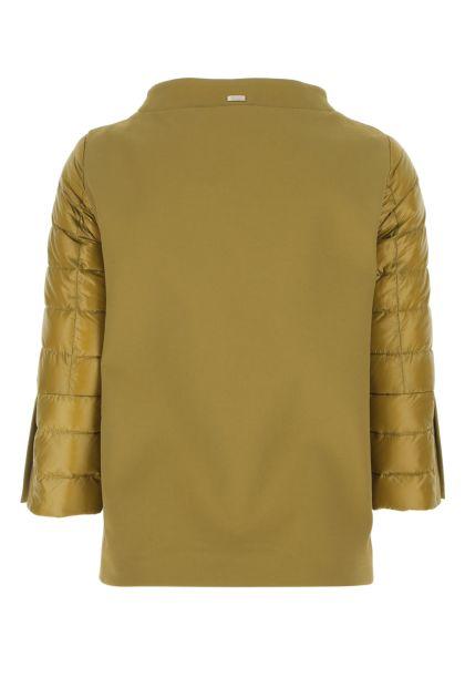 Mustard nylon down jacket