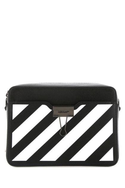 Black leather Diag belt bag