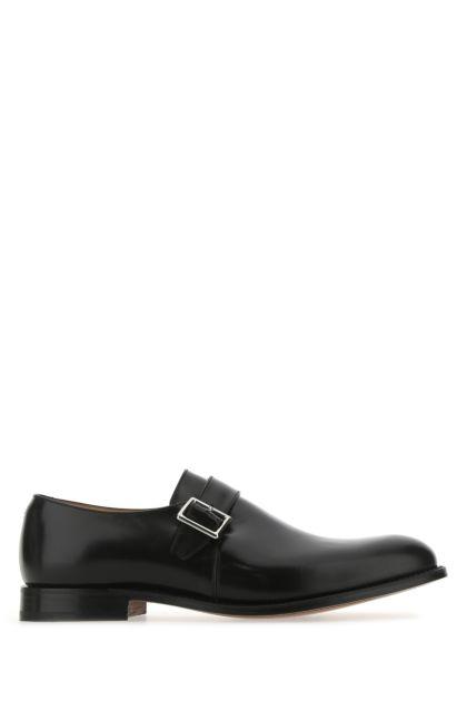 Black leather Lisbon 2 monk strap shoes