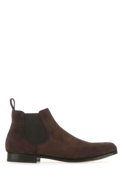 Chocolate suede Danzey ankle boots