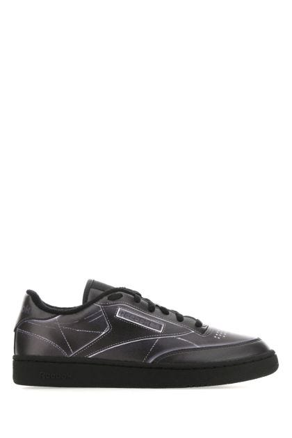 Black leather Club C sneakers