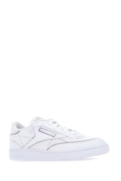 White leather Club C sneakers