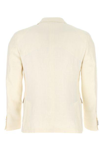 Ivory linen blend blazer