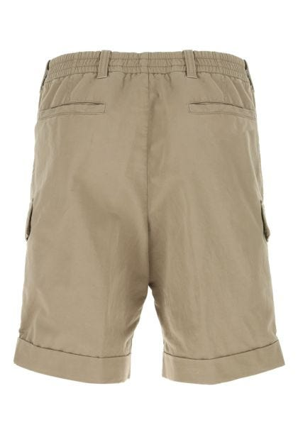Dove grey cotton blend bermuda shorts