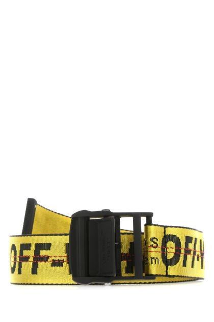 Embroidered nylon and polyester belt