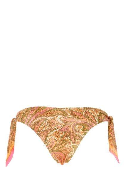 Printed stretch nylon Brighton bikini bottom