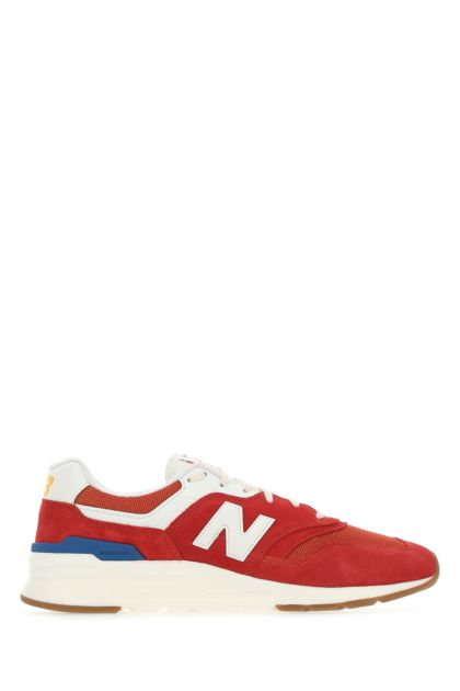 Multicolor suede and fabric 997H sneakers