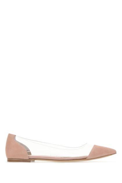Two-tone PVC and suede Dahlia ballerinas
