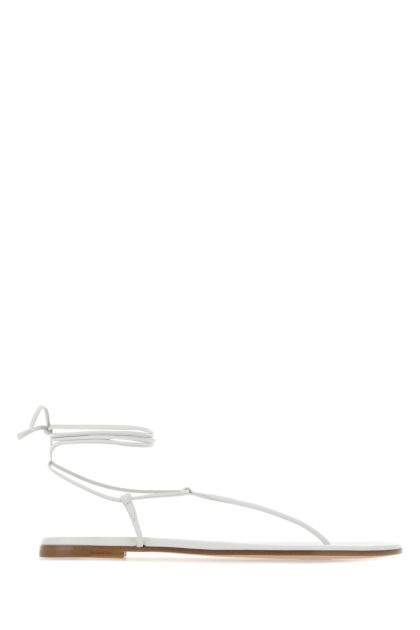 Chalk nappa leather thong sandals