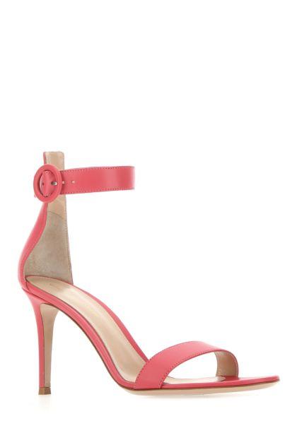 Dark pink nappa leather Portofino 85 sandals