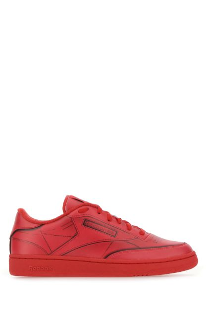 Red leather Club C sneakers