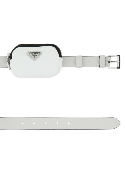 Chalk leather belt
