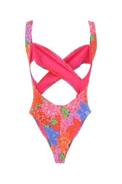 Printed stretch nylon Exotica swimsuit
