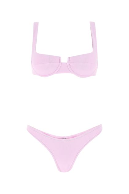 Pink stretch nylon Brigitte bikini