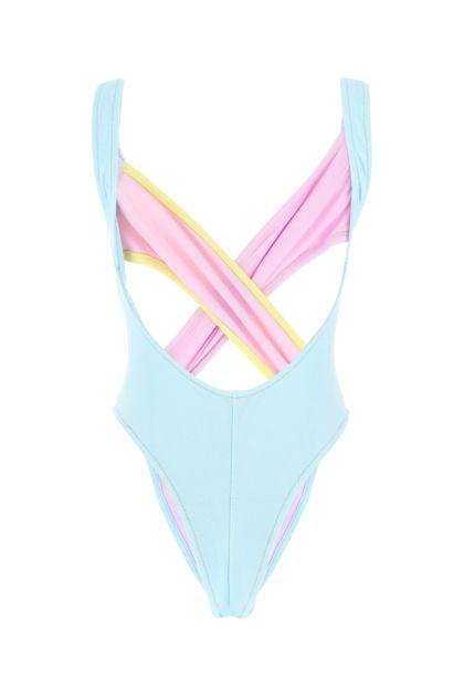 Multicolor stretch nylon Exotica swimsuit