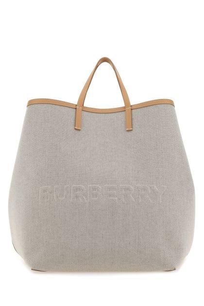 Sand canvas extra large handbag