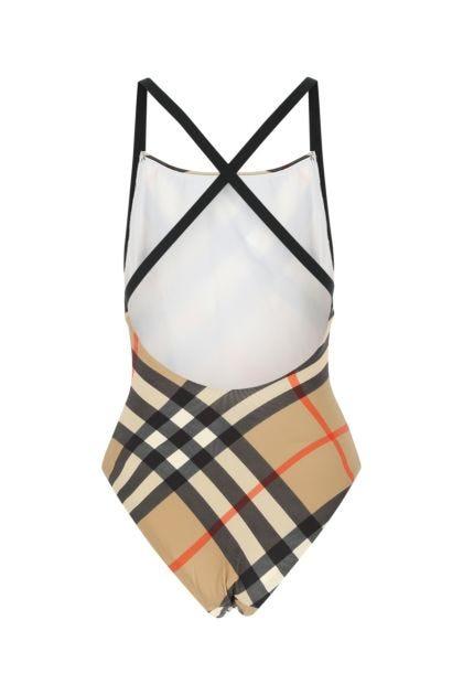 Printed stretch nylon swimsuit