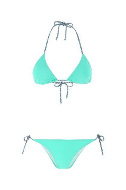 Sea green stretch nylon bikini