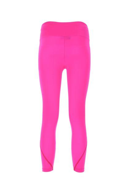 Fuchsia stretch nylon leggings