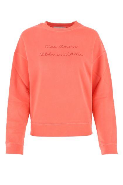 Salmon cotton blend sweatshirt