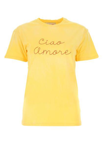 Yellow cotton t-shirt