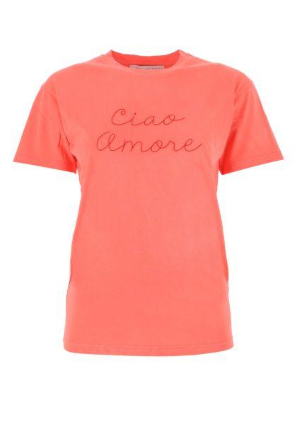 Salmon cotton t-shirt