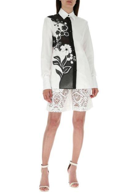 White lace bermuda shorts