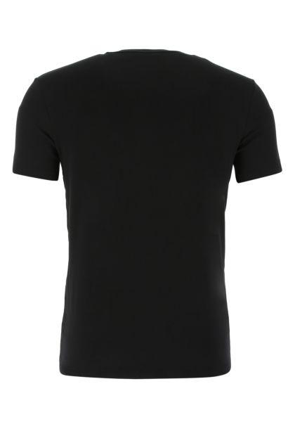 Black stretch cotton t-shirt