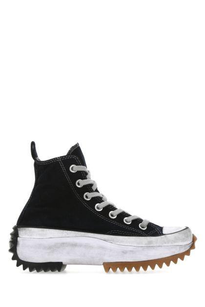 Black canvas Run Star Hike sneakers