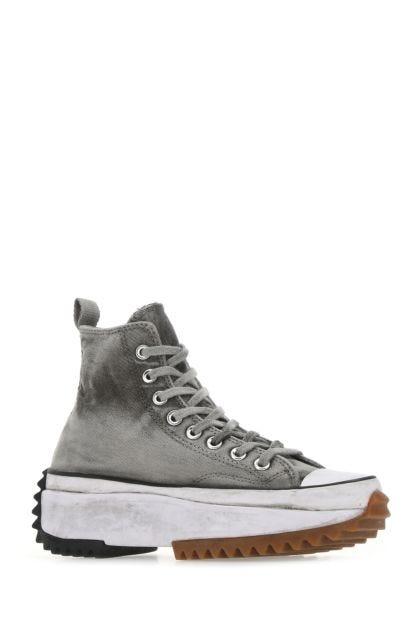 Grey canvas Run Star Hike sneakers