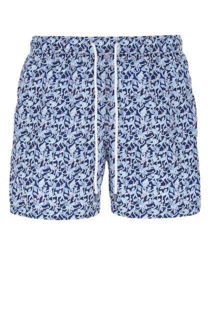 Printed polyester Madeira swimming shorts